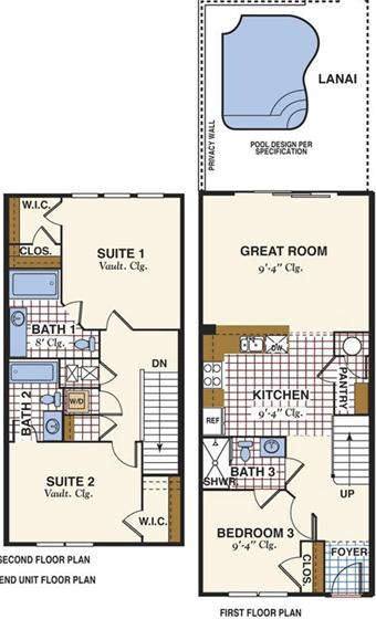 Layout of the Townhouse, Windsor Hills